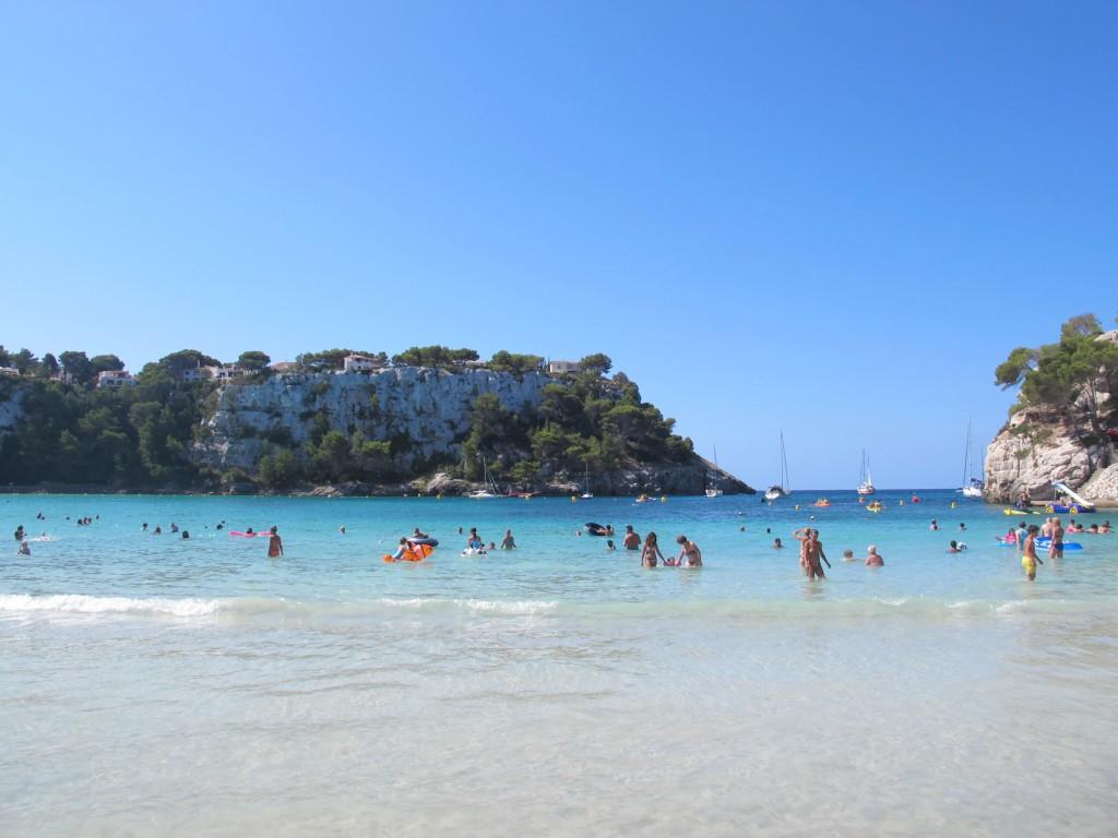 Playa de Cala Galdana en Menorca