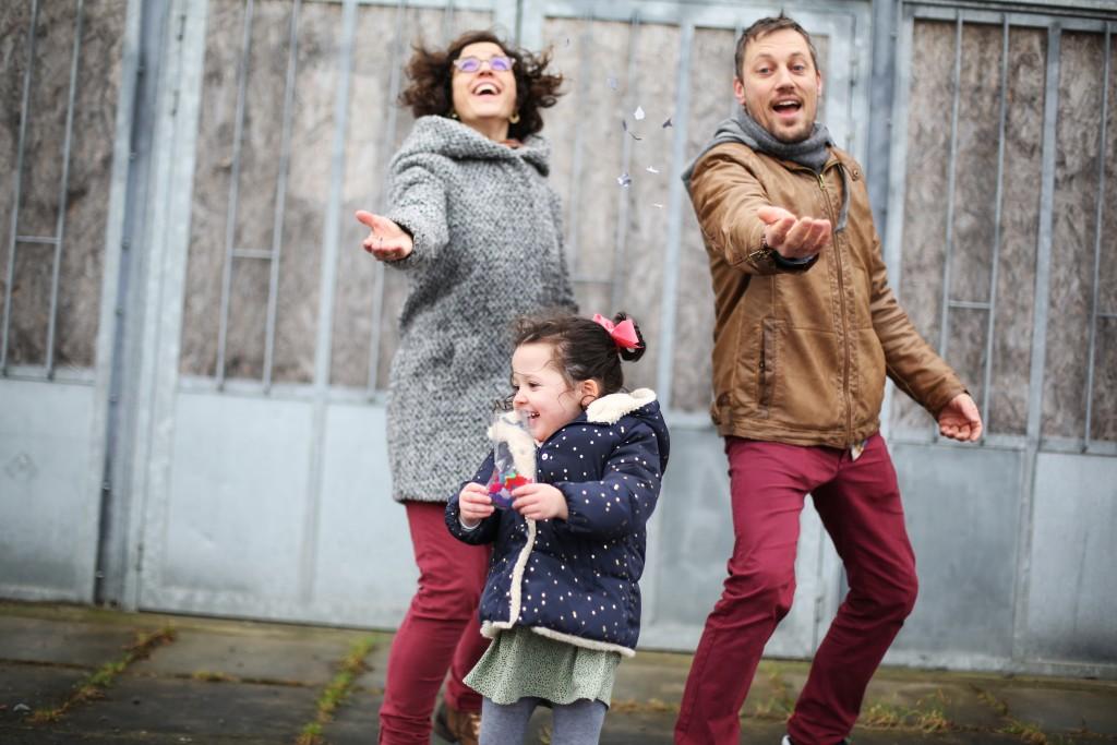 """Séance photo famille Nantes urbaine avec """"La danse de l'image"""""""